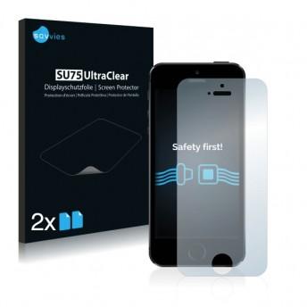 2x Ochranná fólia pre Apple iPhone 5S - predná