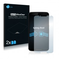 2x Ochranná fólia pre Google Nexus 6 - predná